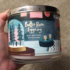Brand new bath&body eggnog candle